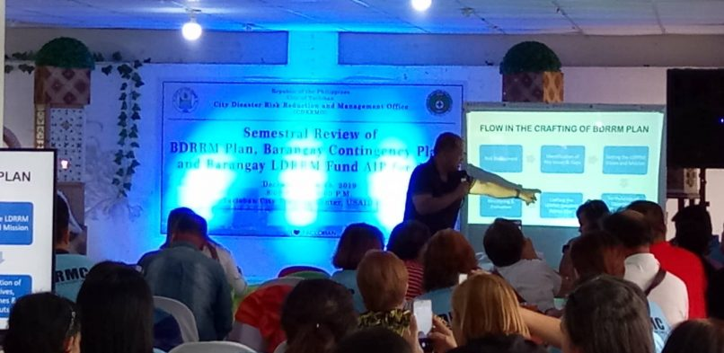 Semestral review of the Barangay Disaster Risk Reduction and Management (BDRRM) Plan, Barangay Contingency plan and Barangay LDRRM Fund AIP for 2020