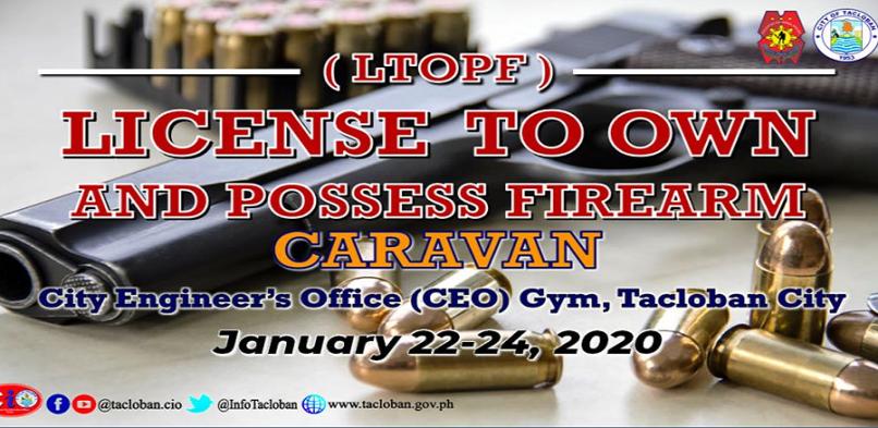 Gun licensing caravan set in Tacloban City