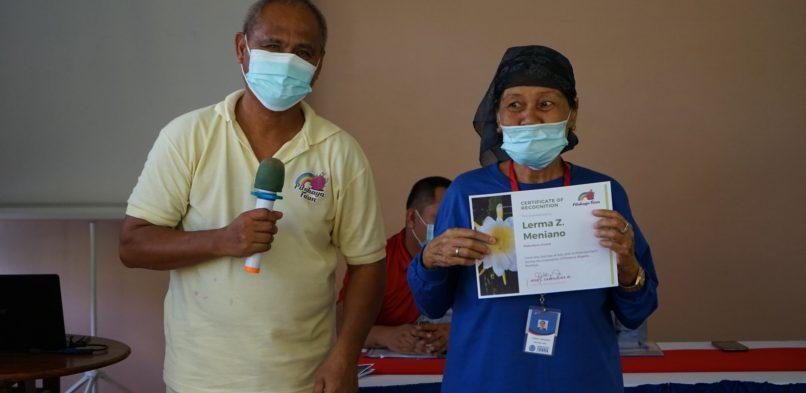 Senior citizen among 20 scholars finished their 8-day training on Produce Organic Fertilizer