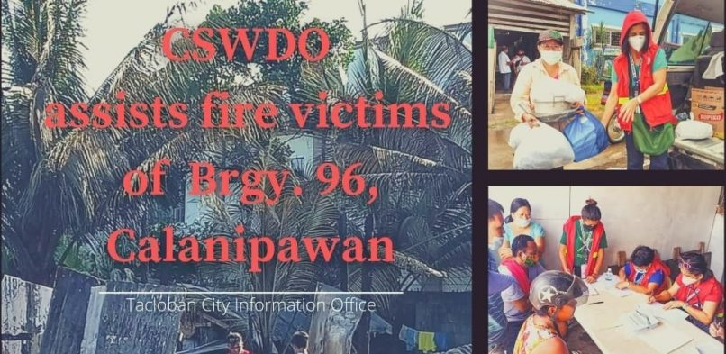 CSWDO assists sixteen families who are victims of the recent fire in Calanipawan
